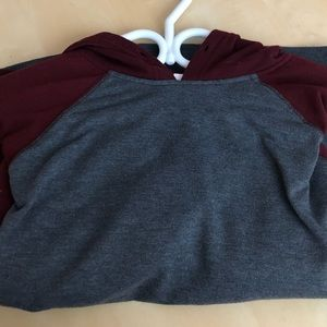 Red and grey comfy hoodie from ardene size medium
